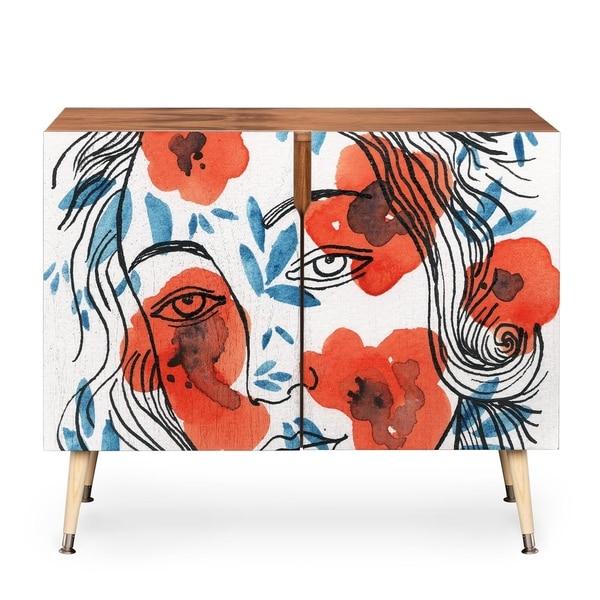 Elena Blanco Botticelli Girl Credenza by DENY Designs