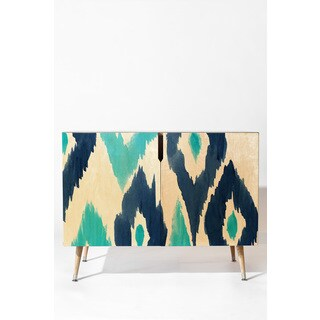 Deny Designs Natalie Baca Malibu Blue Ikat Credenza