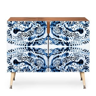 Deny Designs Elisabeth Fredriksson Symmetric Dream Blue Wood Credenza