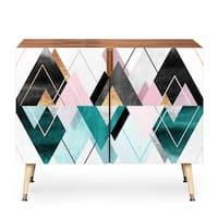 Deny Designs Geometric Triangles Wood Credenza (3 Leg Options)