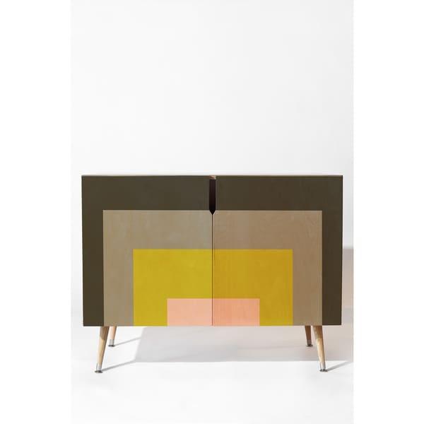 Deny Designs Caroline Okun Flint Multicolored Wood Credenza