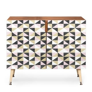 Deny Designs Dash and Ash 'Triangle Outta Space' Credenza (Option: Pink)