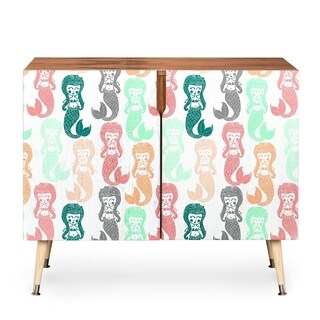 Dash and Ash Lets Be Mermaids Wood Credenza