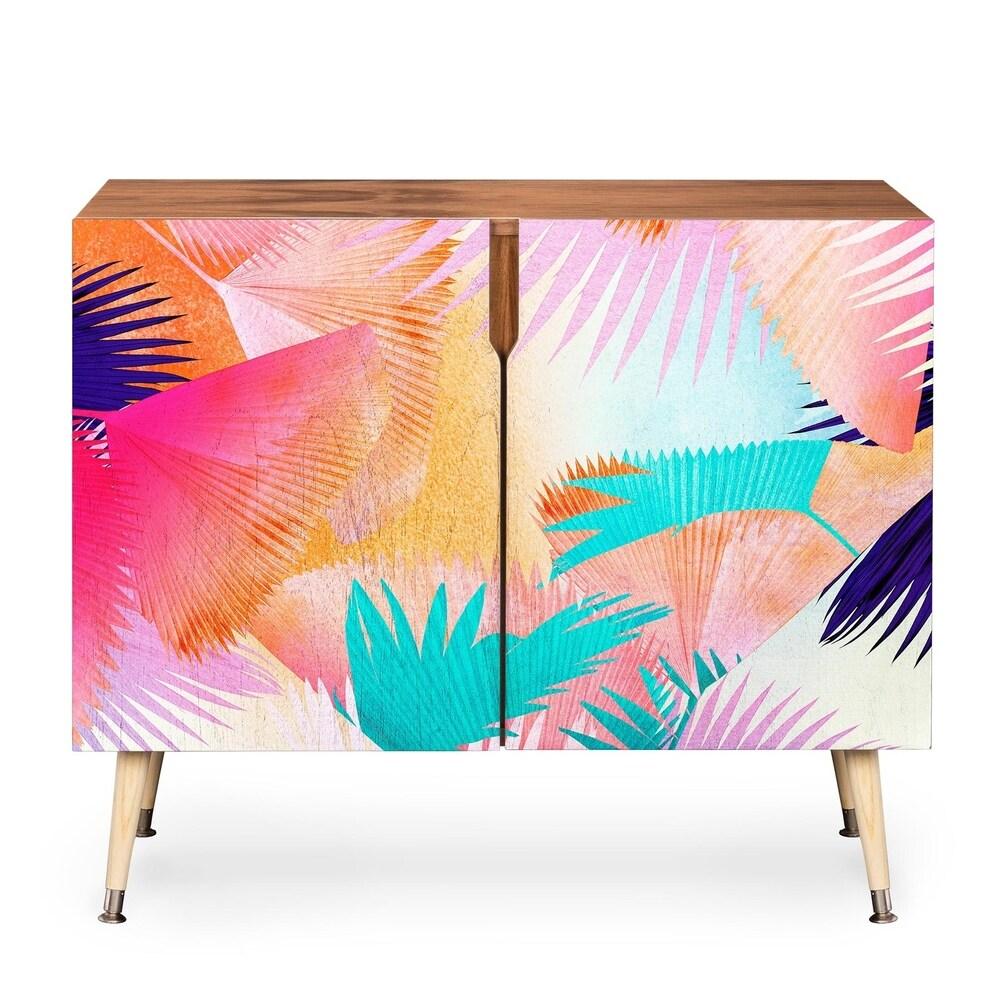 DENY Designs Deny Designs Iveta Abolina Baltic Birch Cuban Sunset Design Credenza (Orange)