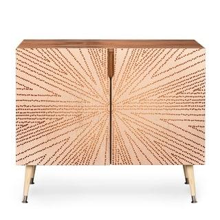 Deny Designs Iveta Abolina Copper Leaf Wood Credenza