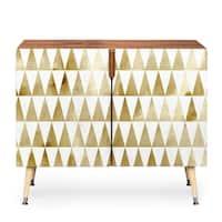 Georgiana Paraschiv Triangle Pattern Gold Wood Credenza
