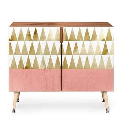 Deny Designs Georgiana Paraschiv 'Gold Triangles' Credenza