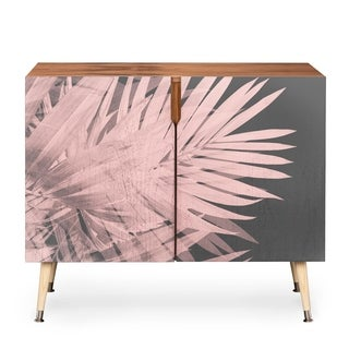 Deny Designs Emanuela Carratoni Blush Palm Leaves Credenza