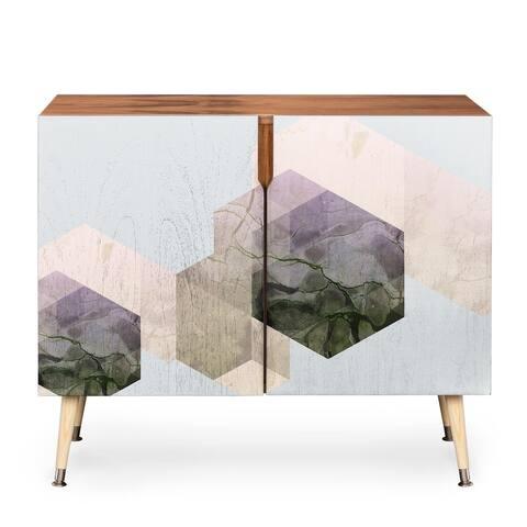 DENY Designs Emanuela Wood Geometric-patterned Credenza