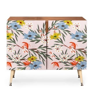 Deny Designs Holli Zollinger Jungle Bungalow Credenza (Option: Pink)