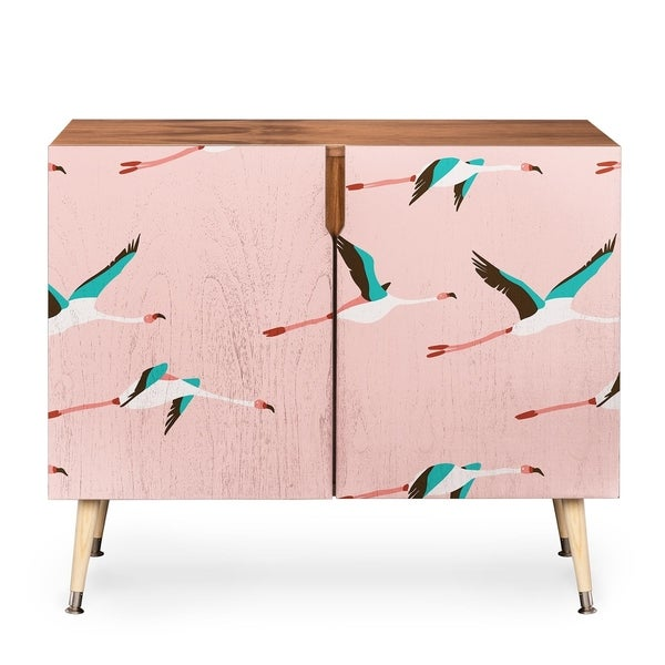 Deny Designs Holli Zollinger Pink Flamingo Credenza