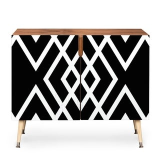 Deny Designs Three of The Possessed Inbetween Wood Credenza