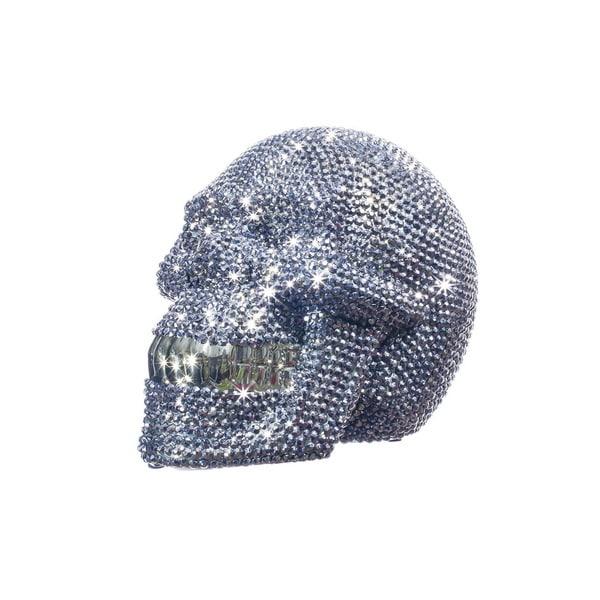 Interior Illusions Rhinestone 8-inch Long Skull Bank