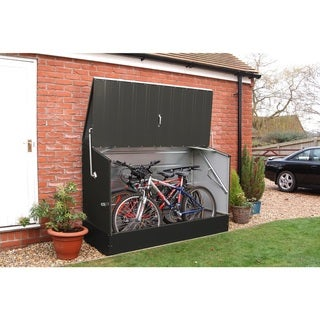 Trimetals Anthracite Grey Outdoor Heavy Duty Steel Bicycle Storage Locker