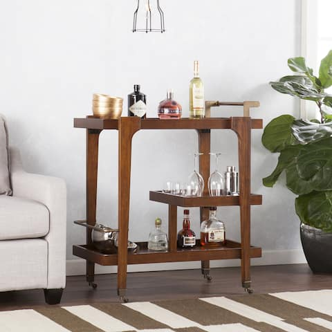 Holly & Martin Zhori 3-tier Mid-century Modern Bar Cart