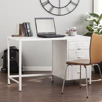 Harper Blvd Priscilla Industrial Wood/Metal File Desk - Distressed White