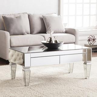 Harper Blvd Dakota Contemporary Mirrored Rectangular Cocktail Table