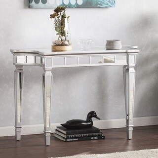 Silver Orchid Olivia Glam Mirrored Console Table - Matte Silver