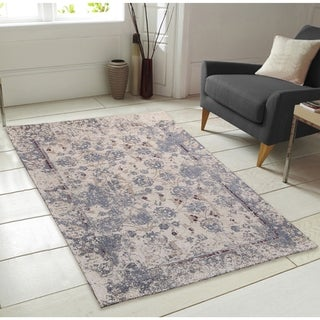 Nebula Pattern Chenille Area Rug with Carpet Back - 7' x 9'