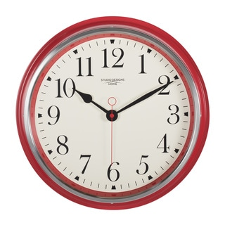 Studio Designs Home 19-inch Vintage Metal Wall Clock