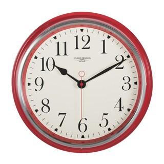 Studio Designs Home 19-inch Vintage Metal Wall Clock