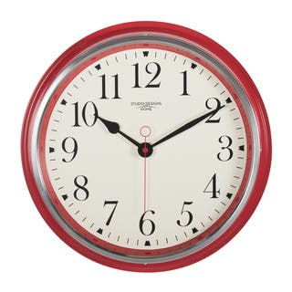 Studio Designs Home 19 Inch Vintage Metal Wall Clock