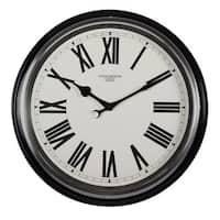 Studio Designs Home 19-inch Traditional Metal Roman Wall Clock
