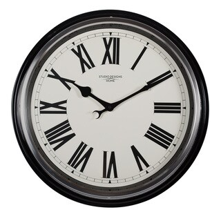 Studio Designs Home 19-inch Traditional Metal Roman Wall Clock