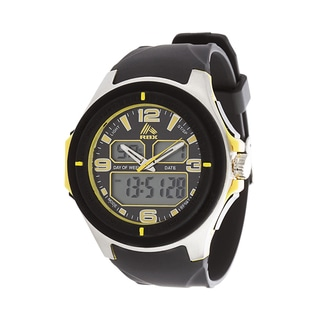 RBX Active Analog & Digital Multifunction Rubber Watch - Yellow
