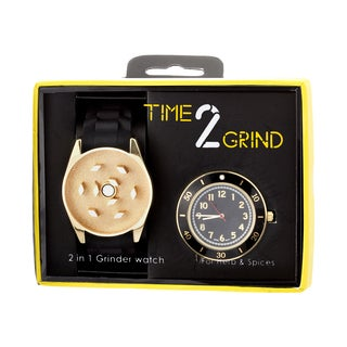 Time 2 Grind Wearable Herb Grinder Watch - Gold