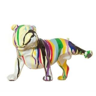"Interior Illusions Graffiti Bulldog With Leg Up 10"""