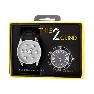 Time 2 Grind Wearable Herb Grinder Watch - Silver