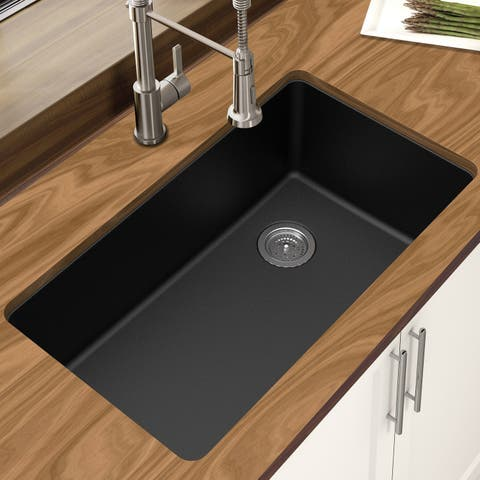 Winpro Granite Quartz 33 In. Single Bowl Undermount Sink
