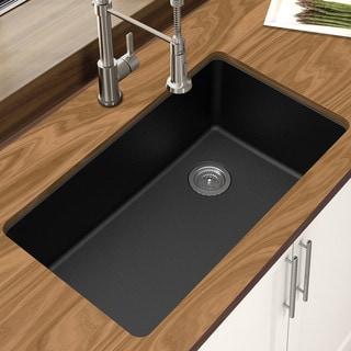 Link to Winpro Granite Quartz 33 In.  Single Bowl Undermount Sink Similar Items in Sinks