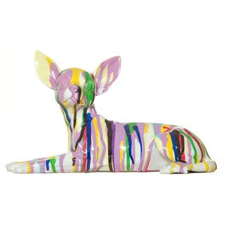 "Interior Illusions Graffiti Chihuahua Laying Sculpture - 10"" Long"