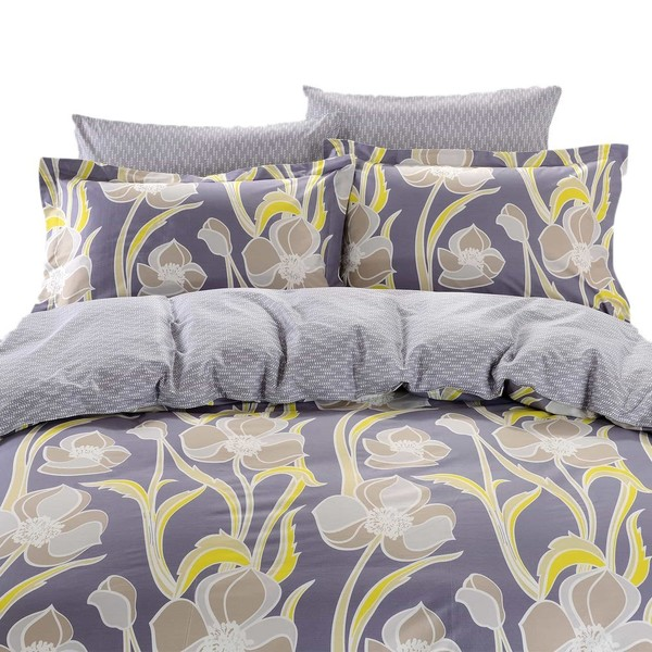 Dolce Mela Nafplio 6-piece Cotton Duvet Cover Bedding Set with Fitted Sheet
