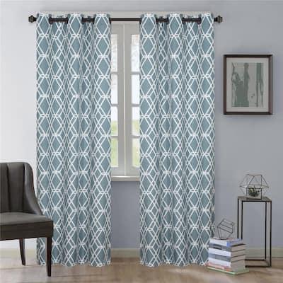 Nanshing Loretta Grommet-Top Curtain Panel Pair