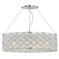 Opus 4-Light Polished Chrome Island Pendant