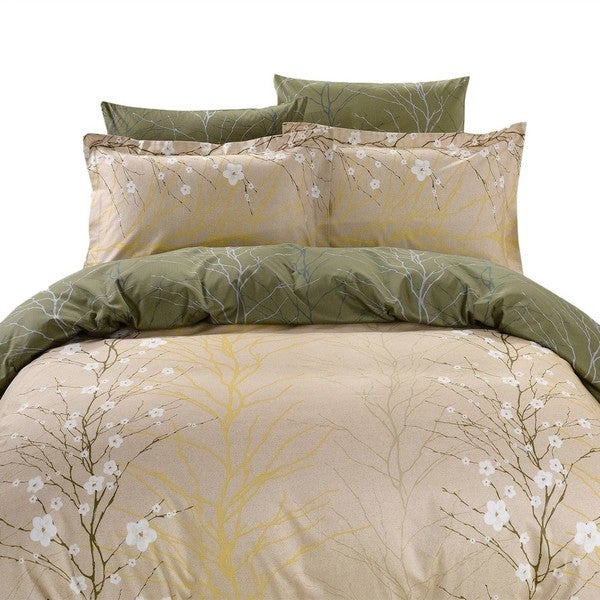 Dolce Mela Rodos 6-piece Cotton Duvet Cover Bedding Set with Fitted Sheet
