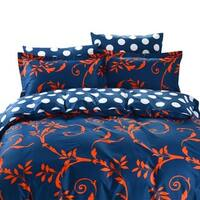 Dolce Mela Crete 6-piece Cotton Duvet Cover Bedding Set with Fitted Sheet