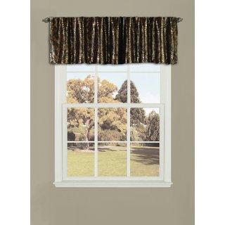 Lush Decor Crocodile Window Curtain Valance