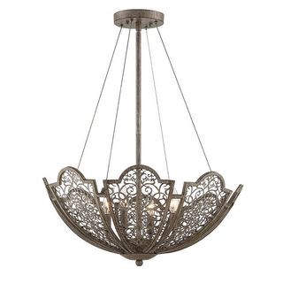 Hartland 4-Light Aged Wood Pendant
