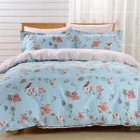 Dolce Mela Novara 6-piece Cotton Duvet Cover Bedding Set with Fitted Sheet