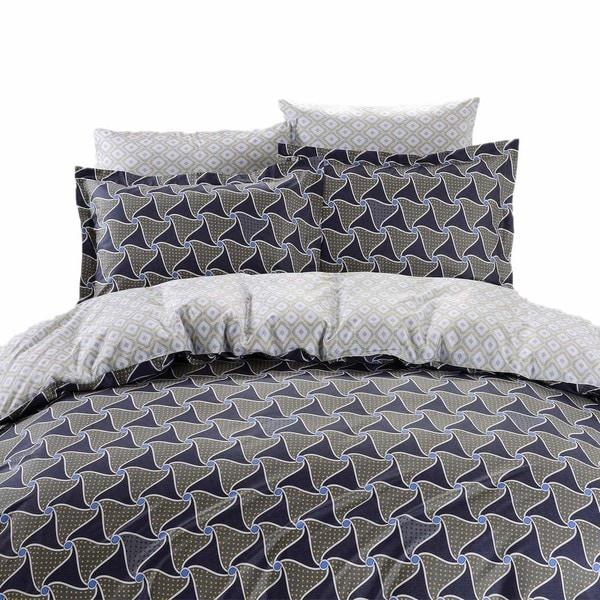 Dolce Mela Epidavros 6-piece 300TC Cotton Queen-size Duvet Cover Bedding Set