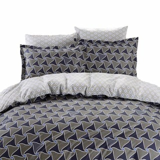 Dolce Mela Epidavros 6-piece 300TC Cotton Queen-size Duvet Cover Bedding Set