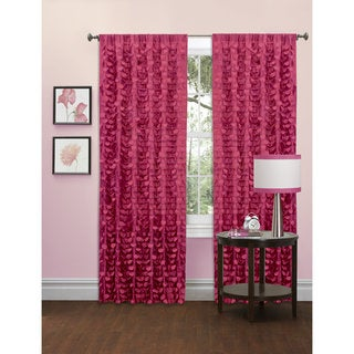 Lush Decor Gigi Pink and Purple Window Panel