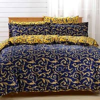 Dolce Mela Paros 6-piece Cotton Duvet Cover Bedding Set with Fitted Sheet