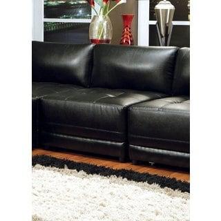 Coaster Company Kayson Contemporary Bonded Leather Armless Sofa Chair
