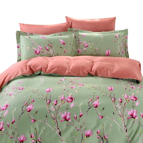 Dolce Mela Kiev 6-piece Cotton Duvet Cover Bedding Set with Fitted Sheet - Multi-color