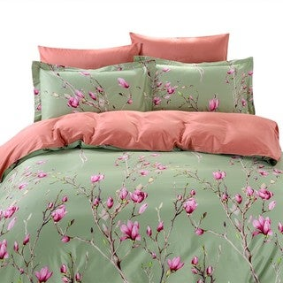 Dolce Mela Kiev 6-piece Cotton Duvet Cover Bedding Set with Fitted Sheet